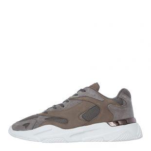 mallet footwear lurus trainers TE1050SWHT stone