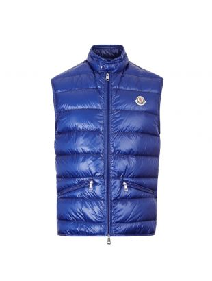 Moncler Gui Gilet 1A107|00|53029|758 In Blue At Aphrodite Clothing