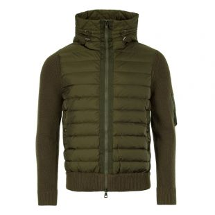 Moncler Hooded Cardigan 94028 00 94789 825 Olive