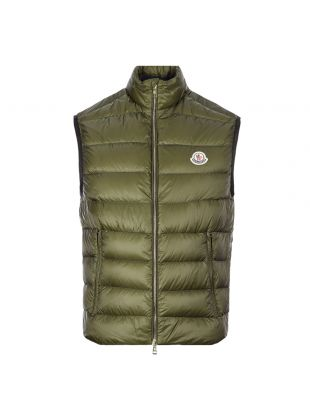 Moncler Iori Gilet 1A112|C0452|833 In Green At Aphrodite Clothing.