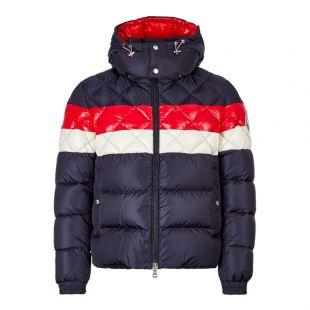 Moncler Jacket Janvry 41934 85 54155 764 Navy / Red / Cream