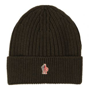 Moncler Beanie Grenoble Logo  00259 00 04761 In Green