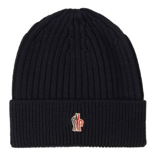 Moncler Beanie Grenoble Logo 00259 00 04761 778 In Navy