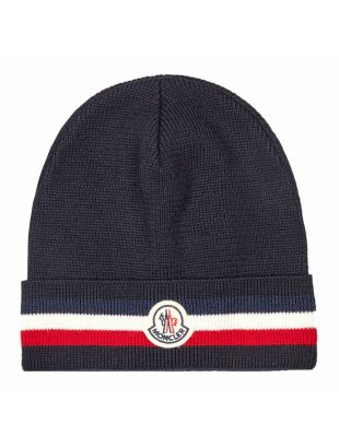 moncler knitted beanie 3B749 00 A9575 742 navy
