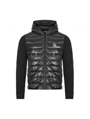 Moncler Hooded Cardigan | Black 9B501 10 V9099 999 | Aphrodite