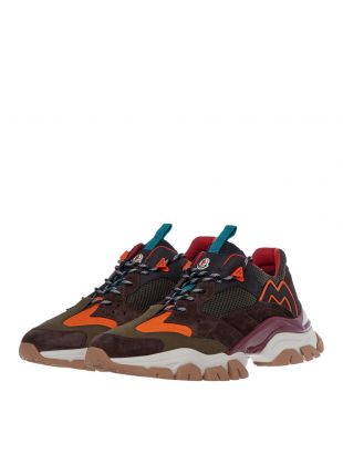 Leave No Trace Trainers - Green / Brown