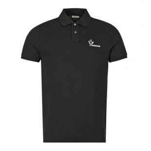 Moncler Polo Shirt Logo 83244 50 84556 999 Black