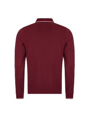Long Sleeve Polo Shirt - Maroon