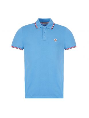 Moncler Polo Shirt | Blue 8A703 00 84556 705 | Aphrodite