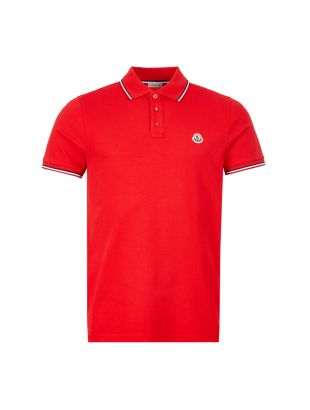 Moncler Polo Shirt | Red Tipped 8A703 00 84556 455 | Aphrodite