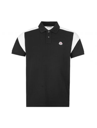Moncler Manica Polo Shirt 8A700|00|84556|99 In Black At Aphrodite Clothing