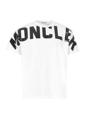 Moncler T-Shirt Maglia Logo 8C704|10|8390T|001 White / Black