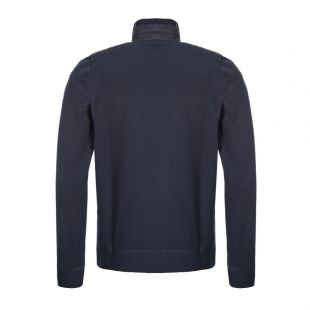 Zipped Fleece Cardigan - Navy