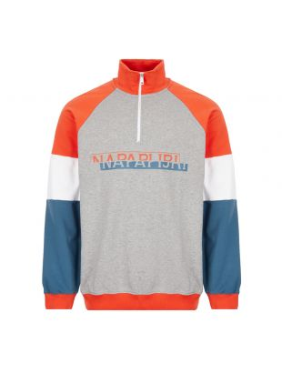 Napapijri Sweatshirt Half Zip | NP0A4E BD1601 Grey / Orange | Aphrodite1994