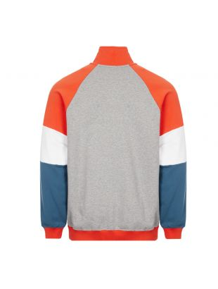 Sweatshirt Half Zip - Grey / Orange