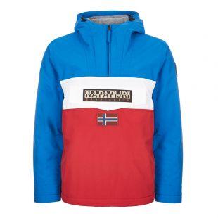 Napapijri Rainforest Jacket | NOYK81|1M4 Red/White/Blue | Aphrodite Clothing