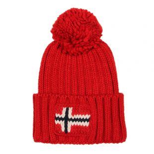 Napapijri Semiury Bobble Hat NOYGSE-R66 Red