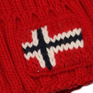 Bobble Hat Semiury  - Red