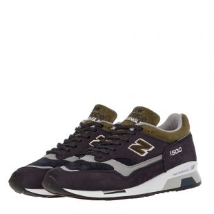 1500 Trainers – Navy / Green