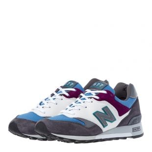 577 Trainers - Green / Purple / Blue