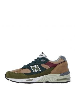 991 Trainers - Green / Beige