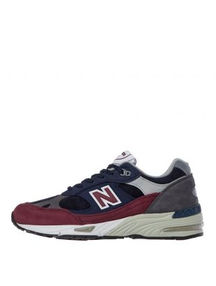 new balance 991 trainers M991RKB navy / purple