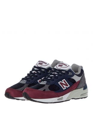 991 Trainers - Navy / Purple