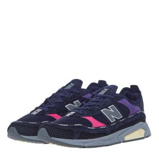 X-Racer Trainers - Navy / Pink / Purple