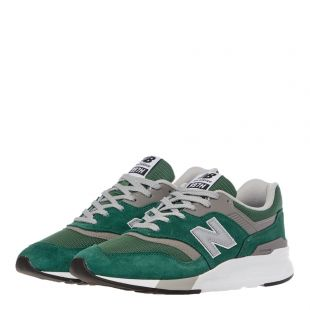 997H Trainers – Green / Silver
