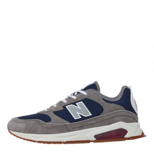 New Balance X-Racer Trainers MSXRCNO In Grey And Navy At Aphrodite Clothing