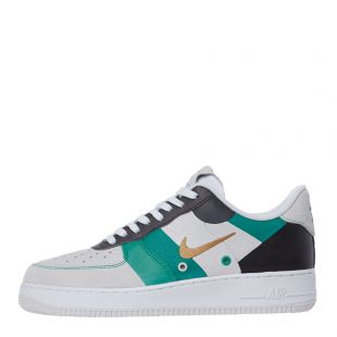 Air Force 1 '07 Premium Trainers – White / Green / Grey
