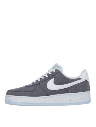 nike air force one recycled canvas trainers CN0866 002 grey