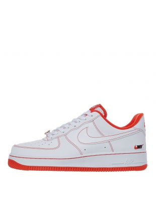 nike air force 1 07 lv8 trainers CT2585 100 white / orange