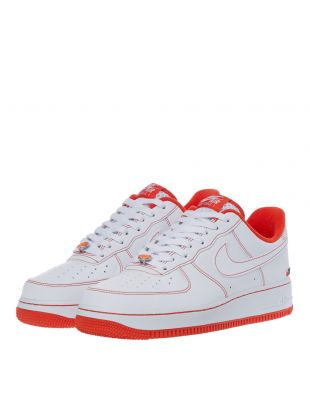 Air Force 1 07 LV8 Trainers - White / Orange