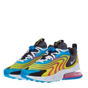 Air Max 270 React ENG Trainers – Blue / White / Yellow
