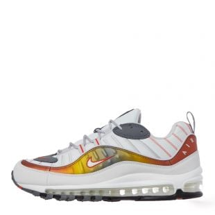 Nike Air Max 98 Trainers | CD0132 002  Grey / White / Gold
