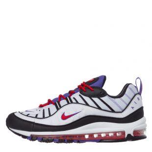 nike air max 98 trainers 640744 110 white / psychic purple