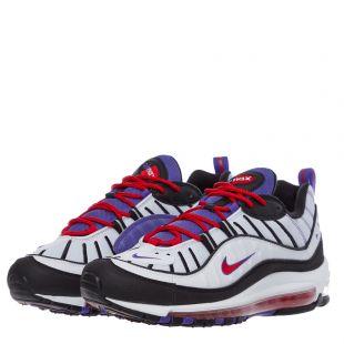 Air Max 98 Trainers - White / Psychic Purple