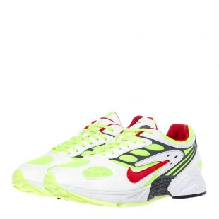 Air Ghost Racer Trainers – White / Red / Neon