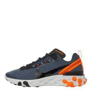 Nike React Element 55 Trainers | CI3831 400 Navy / Black / Orange