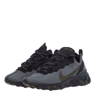 React Element 55 Trainers - Black / Grey