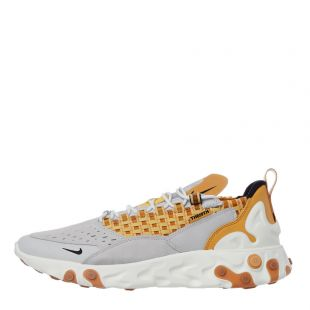 Nike React Sertu Trainers AT5301 003 In Grey And Honeycomb At Aphrodite Clothing