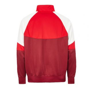 Track Top – Red / Burgundy / White