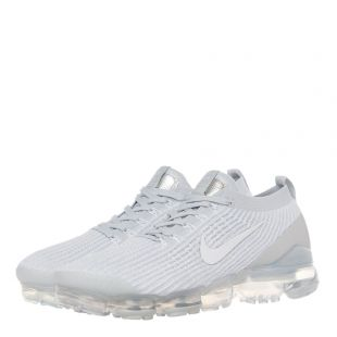 Air VaporMax Flyknit 3 Trainers – White / Platinum