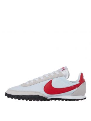 Nike Waffle Racer Trainers | CN8116 100 White / Red