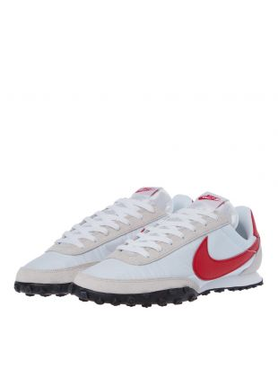 Waffle Racer Trainers - White / Red