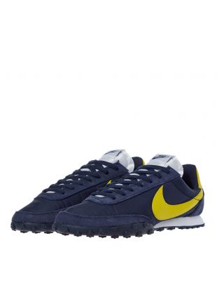 Waffle Racer Trainers - Navy / Yellow