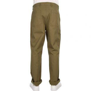 Trousers Laurits Herringbone Cargo - Dried Olive