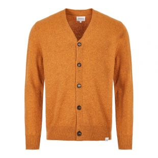 Norse Projects Cardigan Adam Lambswool N45 0395 3039 Rust