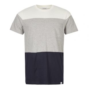Norse Projects T-Shirt Niels Colour Block N01 0447 1026 Light Grey Melange